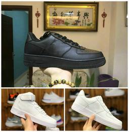 2021 Tasarımcı Kuvvetleri Erkekler Düşük Kaykay Ayakkabı Ucuz One Unisex 1 Örme Euro Hava High Kadınlar All Beyaz Siyah Kırmızı Deri Eğitmen Moda Ayakkabı