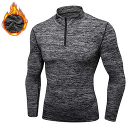 Wholesale cashmere shirt jacket for sale – custom Men Quick Dry Cap Hoodie Sweatshirt Sporting Fitness Tight Rashgard Shirt Gymming Cashmere Thick Plus Velvet Runs Jacket
