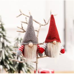 Boże Narodzenie Handmade Szwedzki Gnome Skandynawski Tomte Santa Nisse Nordic Plush Elf Tabeli Tabeli Ornament Xmas Drzewo Dekoracje JK1910XB