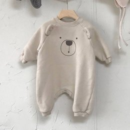 baby boy play clothes UK - MILANCEL baby rompers cartoon baby girls clothing long sleeve infant boys play suit Korean Baby suit 201023