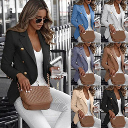Wholesale women s suit coats plus size for sale - Group buy Plus Size Women s Long Sleeve Button Work Jacket Coat Outwear Top Suit Office Ladies Solid Casual Outwear Clothing