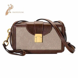 brown leather doctor bags women UK - Classic printing flower Messenger Bag Real Leather Women Handbag Pochette Metis Totes Handbags Purse Shoulder Bags Crossbody Bags
