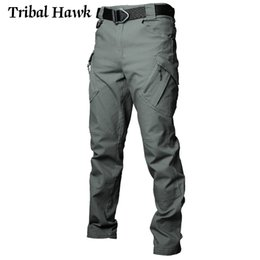 Wholesale men work pants resale online - IX9 Men Tactical Pants Military Army Stretch Flexible Cargo Pants SWAT Man City Multi Pockets Cotton Work Casual Trousers XXXL X1218