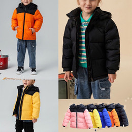 Toptan satış Childs Reversibli Perrito Ceket Toddler Erkek Kız Çocuklar Geri Dönüşüm Dağı Chimborazo Hoodies Aşağı Ceket Sıcak Kuzey Kalın Palto