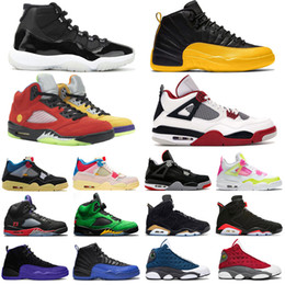 Wholesale Basketball Shoes Mens Trainers Jumpman 11s 25th Anniversary 12s University Gold 4s Union Album 5s What The 6s Hare 13s Flint Sports Sneakers