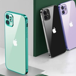 note cube 2020 - Rubik's Cube Straight Edge Galvanized TPU Transparent Phone Case For iPhone 12 Mini 11 Pro Xs Max Xr X 8 7 6 Plus c