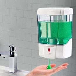 Wholesale 700ml Automatic Soap Dispenser Touchless Smart Sensor USB Bathroom Liquid Soap Dispenser Handsfree Touchless Sanitizer Dispenser RRA3767