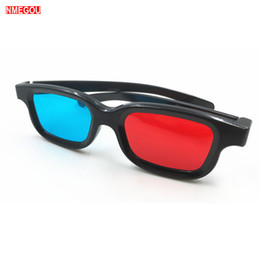 3d video game glasses NZ - Universal Frame Red Blue Anaglyph Simple Style 3D Glasses for Movie Game DVD Video TV Cinema 3 D Glass Realidad Virtual Glasses