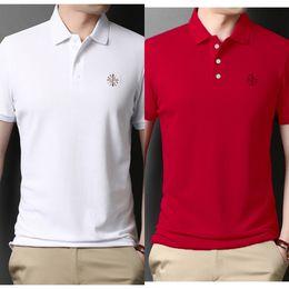 Wholesale t shirt dad for sale – custom Summer young men s short sleeve T Paul polo Coat T shirt top shirt Lapel thin top dad men s half sleeve trend WNz63