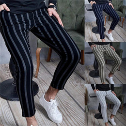 Pantalones Harem Hombres Rayas Oferta Online Dhgate Com
