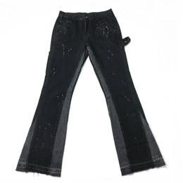 Wholesale multicolor jeans for sale - Group buy Men Washed Black Slim Jeans Multicolor Paint Streetwear dongguan_ss
