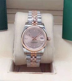 The new 31MM Lady mechanical automatic watch with light outer ring stainless steel wristwatch fashion watch master watch on Sale