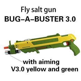 Wholesale gift bug a salt fly gun salt and pepper bullets blaster airsoft for bug blow gun mosquito model toy outdoor salt gun