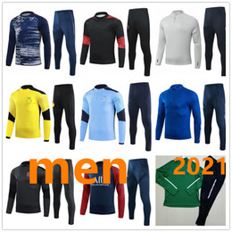 Wholesale xxxl tracksuit for sale – custom men tracksuit football training high quality adult tracksuit soccer training survetement de foot chandal jogging S XXXL