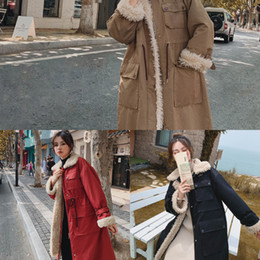 Wholesale fur pocket liners for sale - Group buy 2020 High Quality New Fleece Liner Parker Fashion Fur Collar Big Pocket Winter Jacket Women Medium Long Hooded Parka Coat R8HU