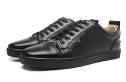Ingrosso Designer.LouboutinCl.cristianoLuxurys Fashion Fashion Luxury Black Leather Red Bottom Sneakers per gli uomini DONNE DONNA PITHON S YRA