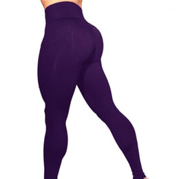 Discount female sexy white pant Purple Sexy Yoga Pants Fit Sport Pants Fitness Gym Workout Running Tight Sport Leggings Female Trousers S31