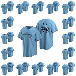 Wholesale cotton jin for sale – custom Toronto Blue Jays Men Vladimir Guerrero Jr Hyun Jin Ryu Bo Bichette Custom Women Youth Replica Alternate Jersey