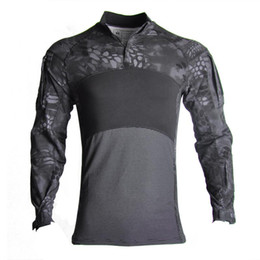 paintball uniforms army 2020 - Airsoft Paintball Clothes Multicam Shirt Top Gym Camouflage Army Long Sleeve Tee Soldiers Combat Clothing Airsoft Unifor
