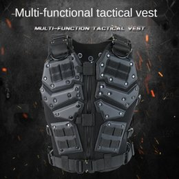 army combat vest 2020 - Tactical Vest Combat Vest Tactical Hunting Army Adjustable Armor Outdoor CS Training discount army combat vest