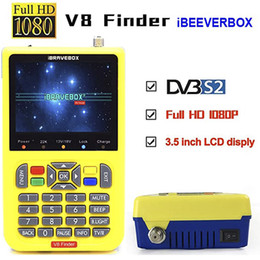 "digital satellite finder meter 2021 - V8 Finder HD Satellite Finder DVB S2 Digital H.264 Full 1080P FTA 3.5"" LCD Built-in 3000mAh Battery Sat Finder Meter"