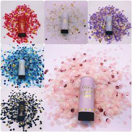 Venta al por mayor de Celebración metálico partido del confeti de oro Popper cañones de mano fuegos artificiales danza de la boda de Navidad de cumpleaños KTV Año Nuevo por DDE2203 mar