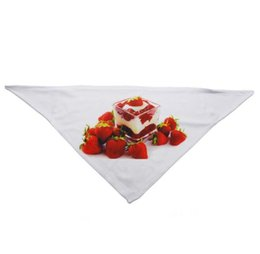 wholesale cotton linen scarves UK - DIY Scarf Printing Blank White 10pcs Transfer Pet Triangle Polyester Neck Bandanas Heat Dog Sublimation Qsqxw