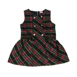 Wholesale Designers Clothes Kids Clothing Sets Girl autumn winter dress Girls Casual Childrens Geometric Printed Skirt Cotton Dresses Babys JH-4412