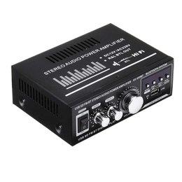 Wholesale Lepy 12V 220V 400W 2 CH Bluetooth Hifi Stereo USB SD FM Radio Power Stereo Car o Home