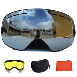half mask snowboard UK - 70%OFF H igh Quality UV400 Anti-Fog Double layers Ski Masks Skiing Snowboard goggles Graced Lens Mirror Case Set