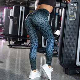 Wholesale sexy leggings tights feet resale online - Leopard Print Tights Quick Dry Breathable Sexy Buttocks Close Running Foot Basket Row Riding Dance Movement Workout Leggings Yoga Pants