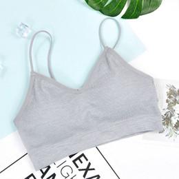 Wholesale New Sports Underwear Seamless No-Steel Wrap Wrap Bottom Girl Blouse Tnak Tops
