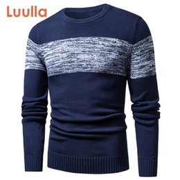 Wholesale crochet coat patterns for sale - Group buy Luulla Men Autumn Spring New Casual Knitted Cotton Pattern Sweaters Pullover Men Outfit Fashion O Neck Sweater Coat Men XL