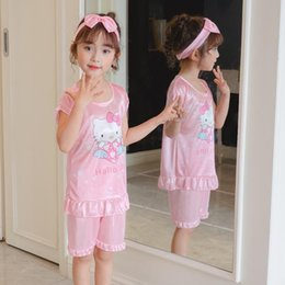 Wholesale womens matching pajamas for sale - Group buy Outfits Womens Summer Wear Cotton Boys Girls Parent child Spring Pajamas Childrens Sleepwear Home Matching Family Underwear Cqppa