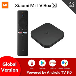 Großhandel Original Globale Version Xiaomi Mi TV Box S Android 9.0 2GB RAM 8GB ROM Smart TV Set-Top-Box 4K QuadCore- HDMI WiFi Mali 450 1000Mbp Spieler
