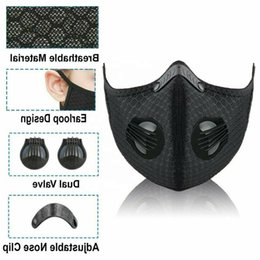 exhalation valve mask Canada - Protective Pm2.5 Replaceable Bike Sport Masks with Exhalation Valves Running Dust-proof Bicycle Motorcycle Cycling Mask 028u