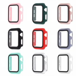 Wholesale smart i watch for sale - Group buy DHL Watch Cases For Apple Watch i watch Cover With Glass Tempered Film Protector Wearable Smart Accessories