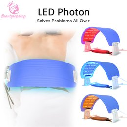 photon led skin rejuvenation mask UK - Hot Sell 7 Color LED Light Facial Body Therapy Machine Acne Treatment LED Photon Facial Mask