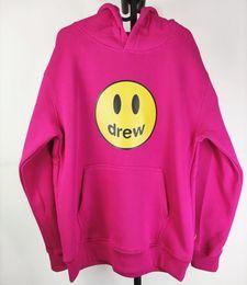 Wholesale sweatshirts red blue online – oversize Justin Bieber Drew House Mens Clothing Hoodies Print Hoodie Sweatshirts Mens Women Designer Hoodies Pullover Autumn Winter Sweatshirts