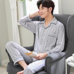 Wholesale pyjamas for mens for sale - Group buy Winter Plus Size XXXL Casual Mens Pajamas Sets Cotton Long Sleeve Sleepwear Mens Pijama Simple Autumn Pyjamas For Male Autumn