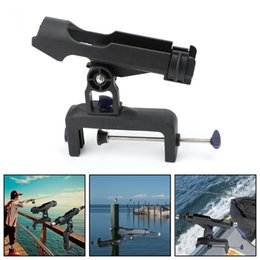Areyourshop Clamp On Boat Rail Fishing Rod Pole Stand Bracket Sports Rod Holder Rests New Sporting goods Accessories Parts on Sale