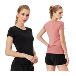 shirt train Australia - Yoga Fitness Shirts Mesh New Running Short Sleeve Workout Ladies Breathable Comfortable Sports Tshirt Patchwork Training Women T