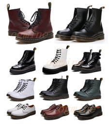 [shipped within 6 days] Classic 1460 boot ankle High platform doc crystal sole martin fox mens womens + fur man martins fox boots 36-46 on Sale