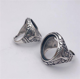 Details about  /14*19mm 925 STERLING SILVER Semi Mount Base Blank ring Setting DIY men S5504