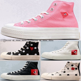 Wholesale shoes 5 cdg commes des 70 heart All Chuck 35 garcons play Stars Sneakers eur 11 casual size us 45 canvas men Taylor women Schuhe high top