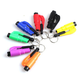 Wholesale Life Saving Hammer Emergency Rescue Tool Car Accessories Seat Belt Window Break Tool Safety Glass Breaker Mini Keychain Hammer
