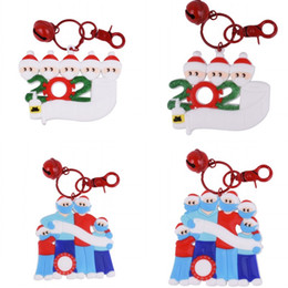 Wholesale names people for sale – custom PVC Household Christmases Series Pendant Three To Six People DIY Full Name Blessing Words Christmas Tree Ornaments ch J2