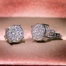 Femmes Full Faux Diamant Mariage Décoration Large Round Hoop Boucles d/'oreilles Q