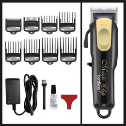 8148 Magic Metal Hair Clipper à cheveux électriques Hommes Steel Head Shaver Tondeuse à cheveux en or rouge UE UK US Plug en Solde