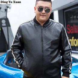 Wholesale lether jackets resale online - 6XL XL XL XL XL Plus Size Men Faux Leather Moto Biker Jacket Mens Pu Lether Jackets Coat Black Blue Red Blouson Cuir Homme